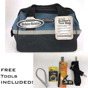 McGuire Nicholas 12-Inch Wide Blue Black Tool Bag
